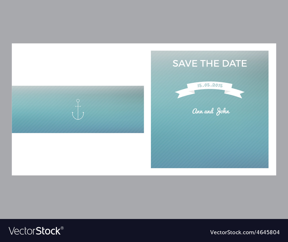 Save the date marine card vector | Price: 1 Credit (USD $1)