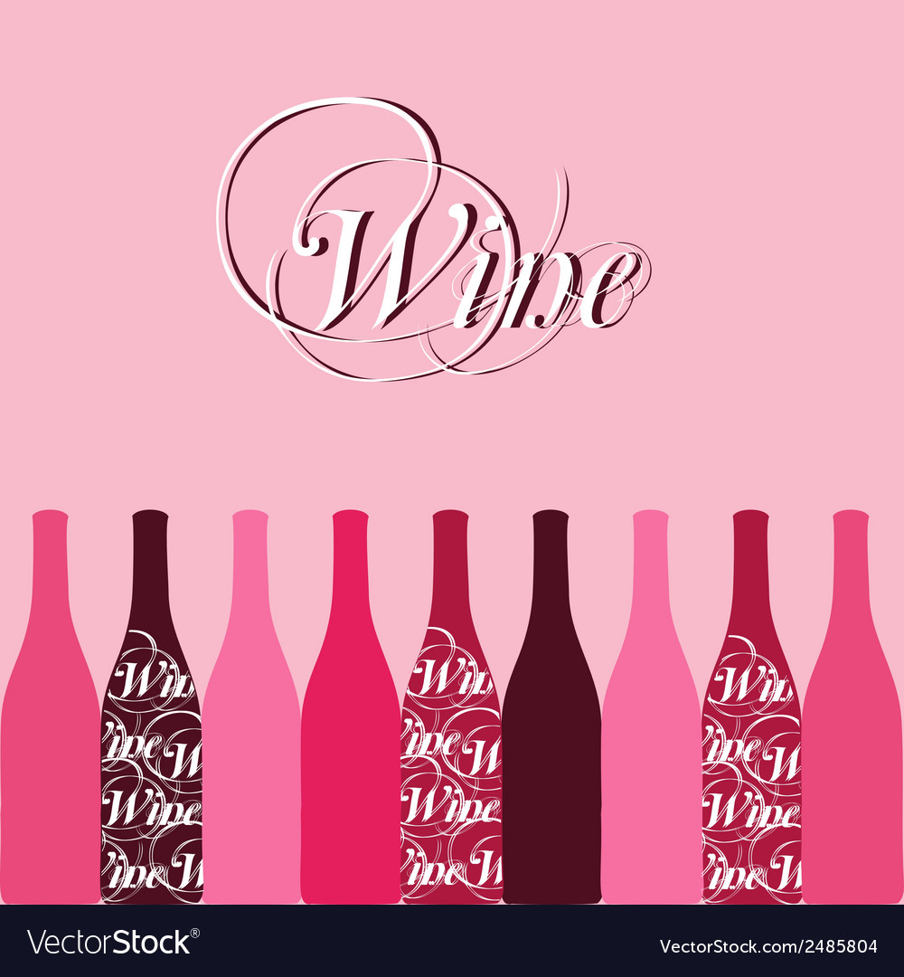 Wine bottle silhouette vector   Price: 1 Credit (USD $1)