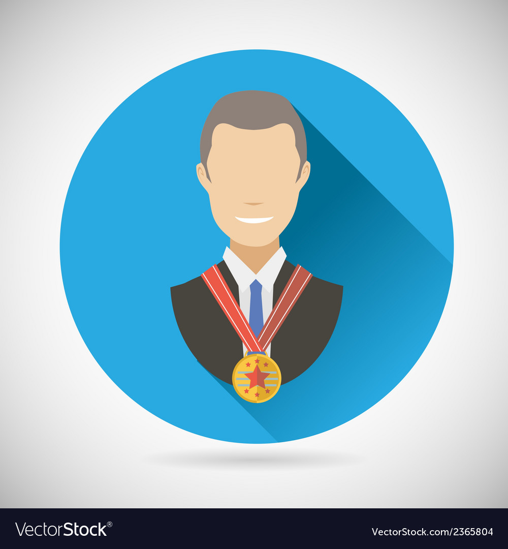 Winner success businessman victory prize award vector | Price: 1 Credit (USD $1)