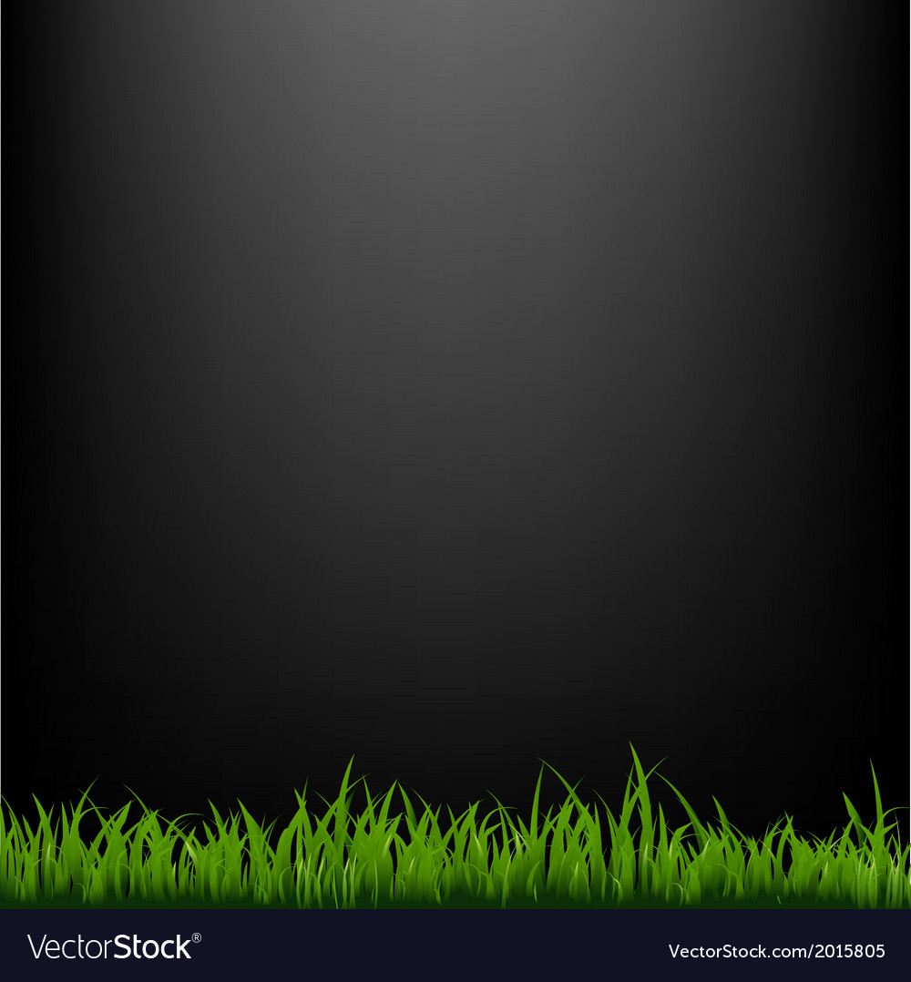 Black background with grass vector | Price: 1 Credit (USD $1)