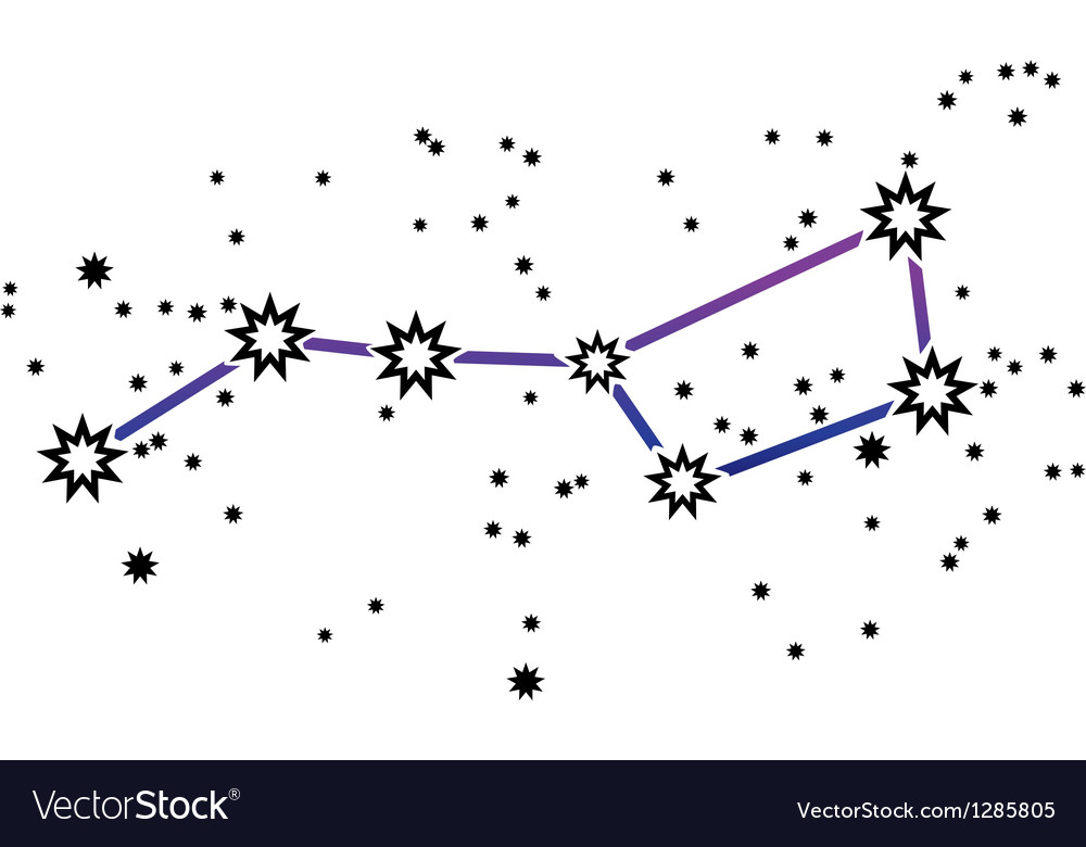 Constellation ursa major big dipper vector | Price: 1 Credit (USD $1)