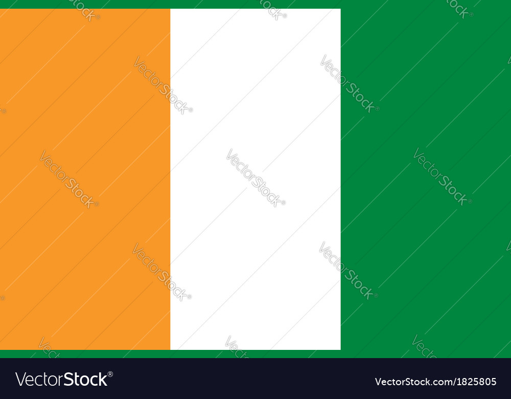 Cote d ivoire flag vector | Price: 1 Credit (USD $1)