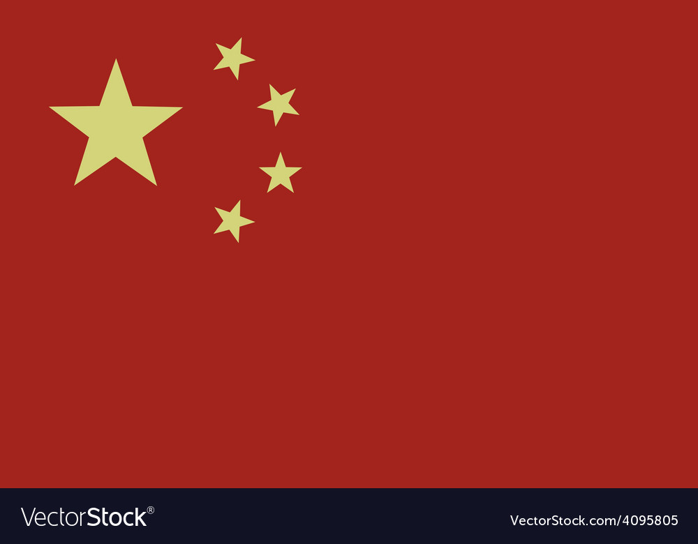 Flag of china vector | Price: 1 Credit (USD $1)