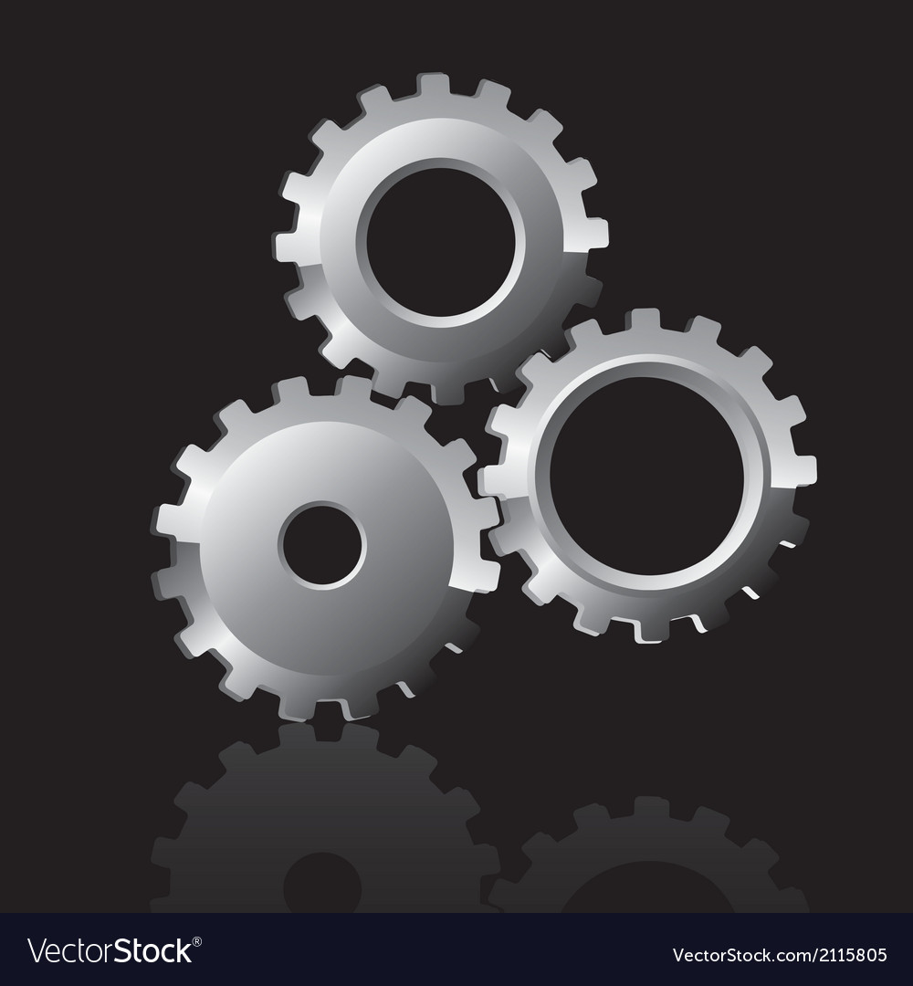 Gear icon isolated on begro vector | Price: 1 Credit (USD $1)