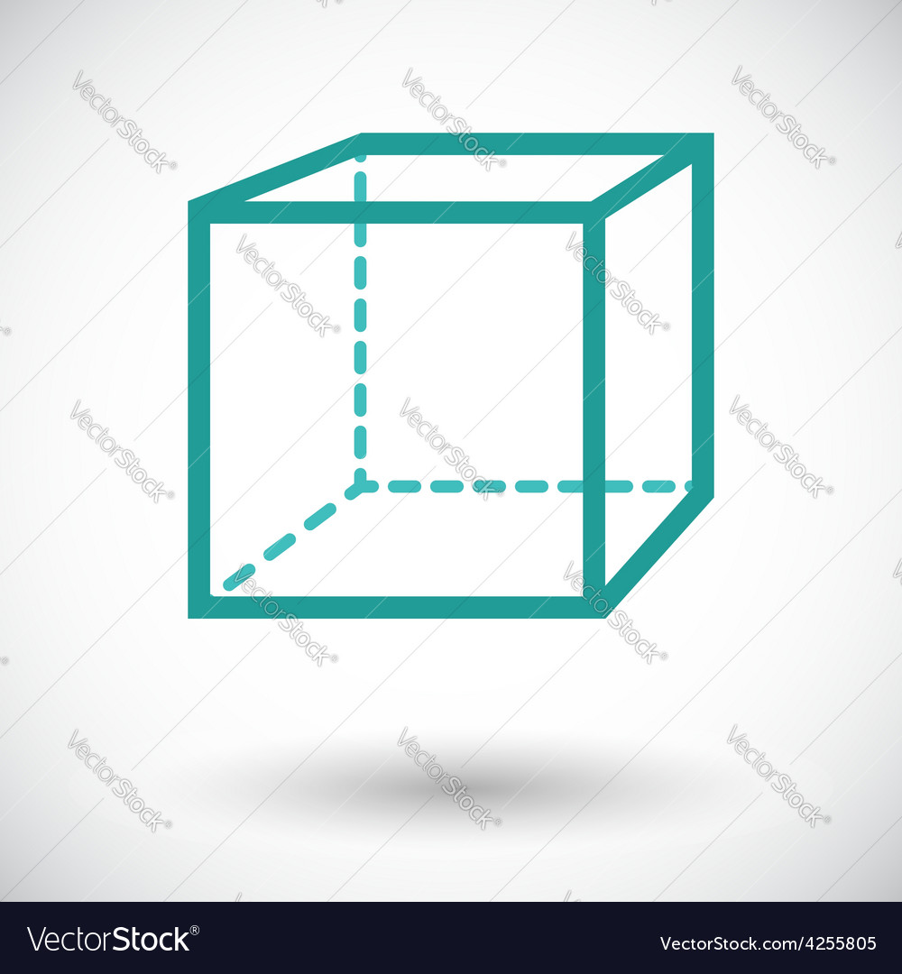 Geometric cube vector | Price: 1 Credit (USD $1)