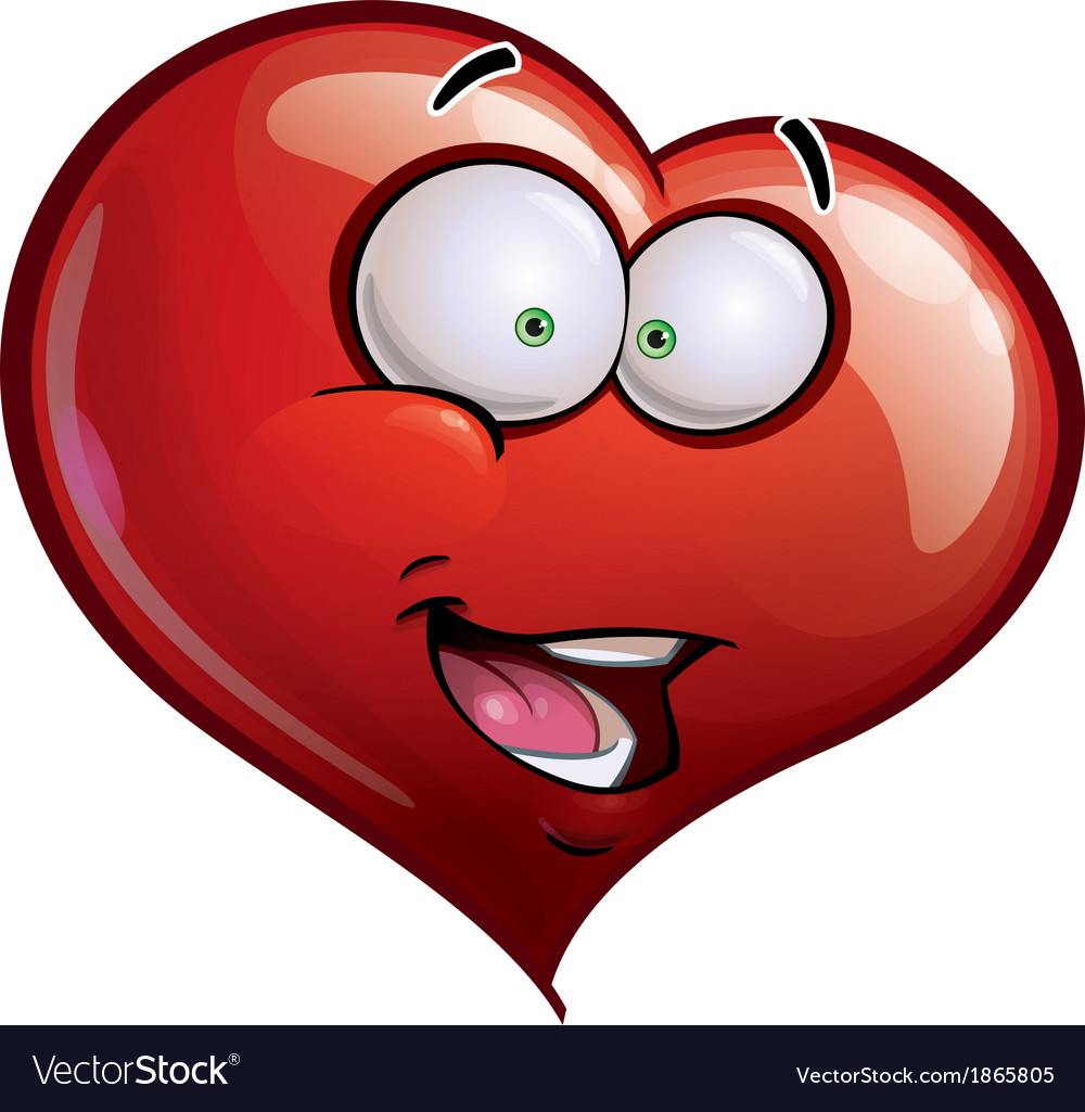 Heart faces happy emoticons hi vector | Price: 1 Credit (USD $1)