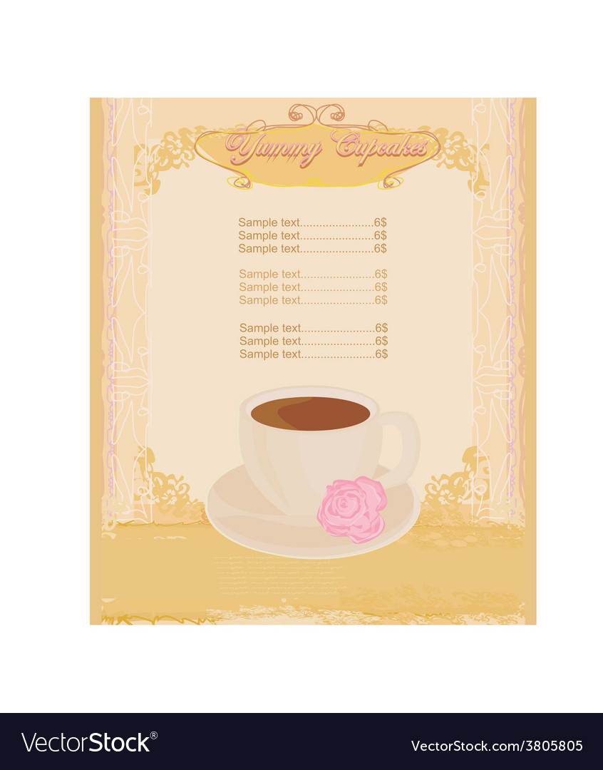 Menu coffee shop vector | Price: 1 Credit (USD $1)