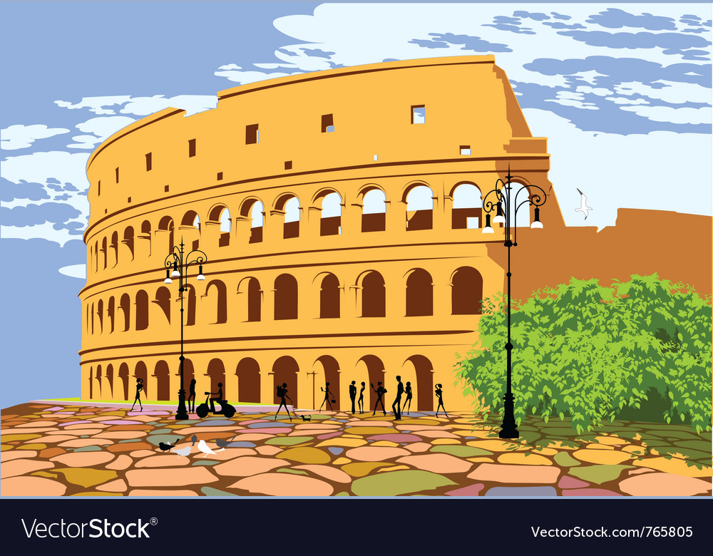 Roman colosseum vector | Price: 3 Credit (USD $3)