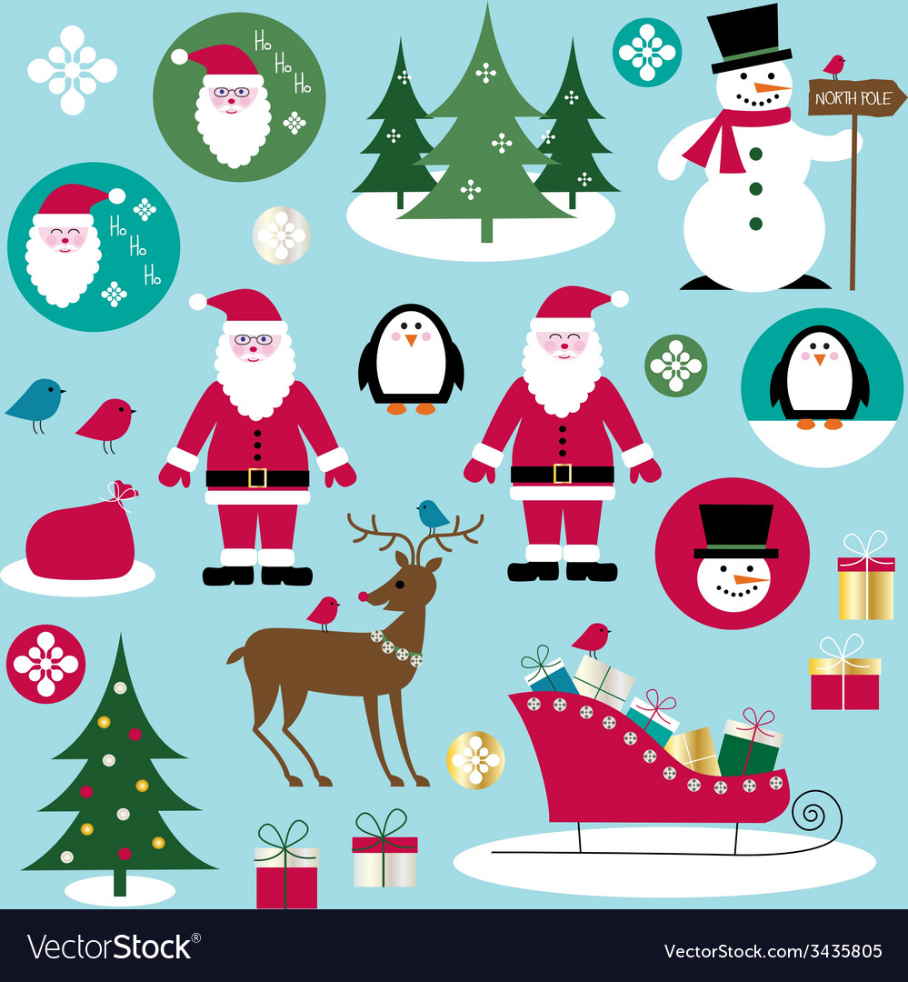 Santa clipart vector | Price: 1 Credit (USD $1)