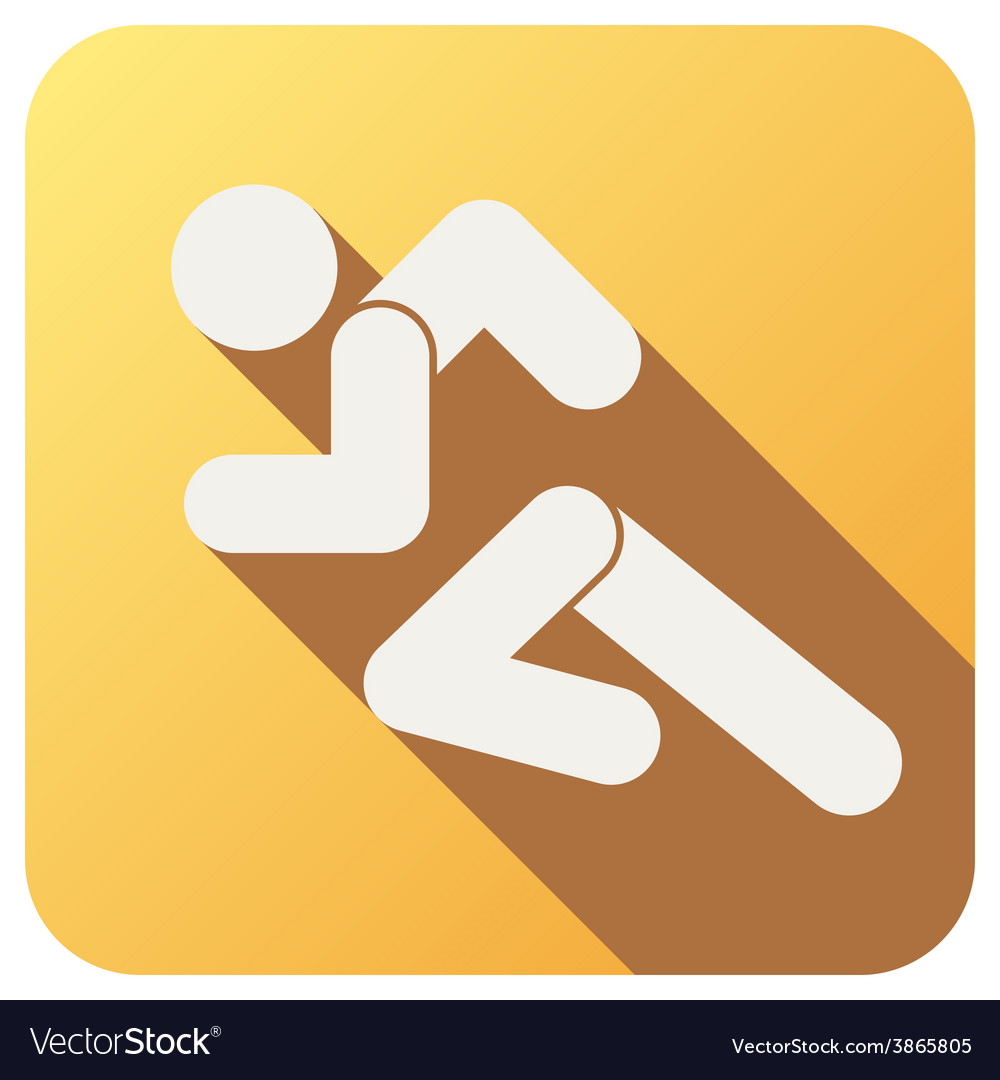 Sport icon with run people in flat style vector | Price: 1 Credit (USD $1)