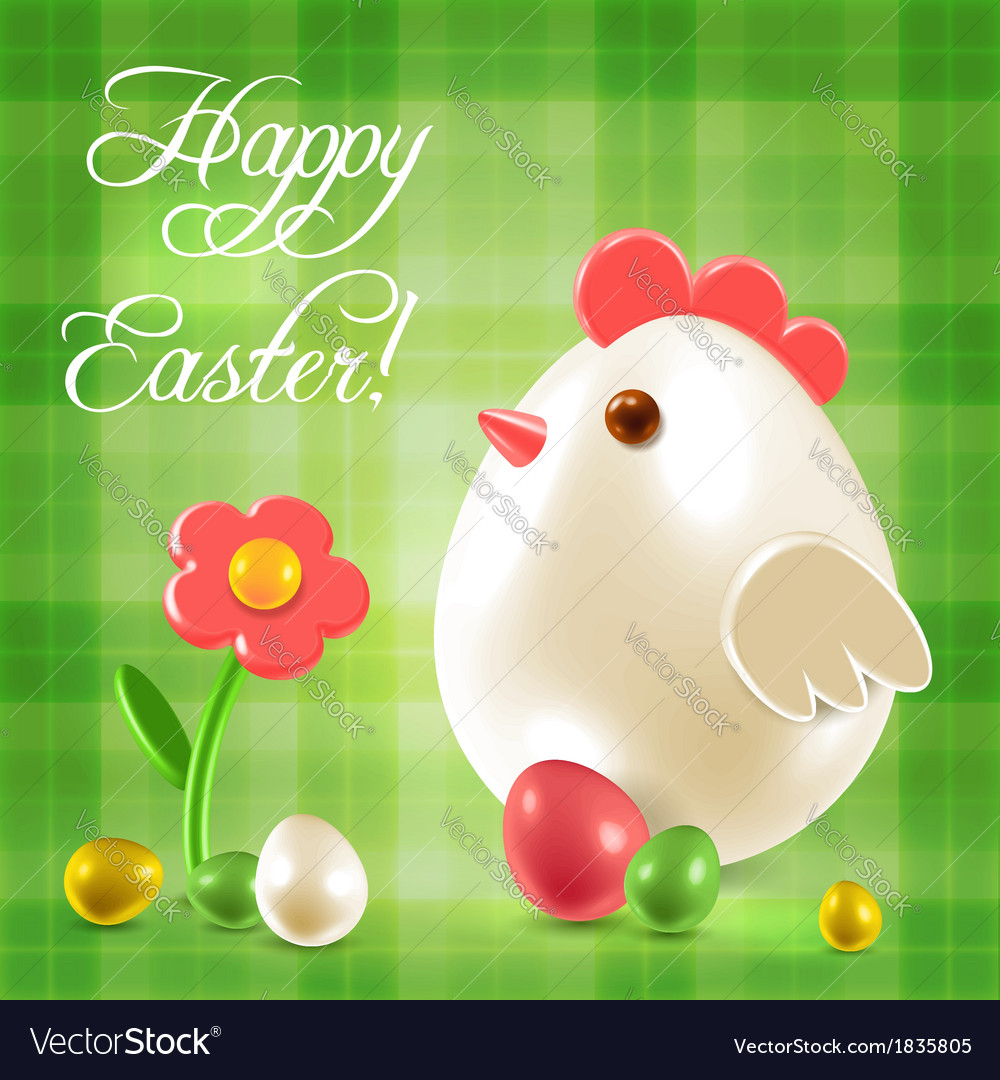 Warm easter greetings postcard vector | Price:  Credit (USD $)