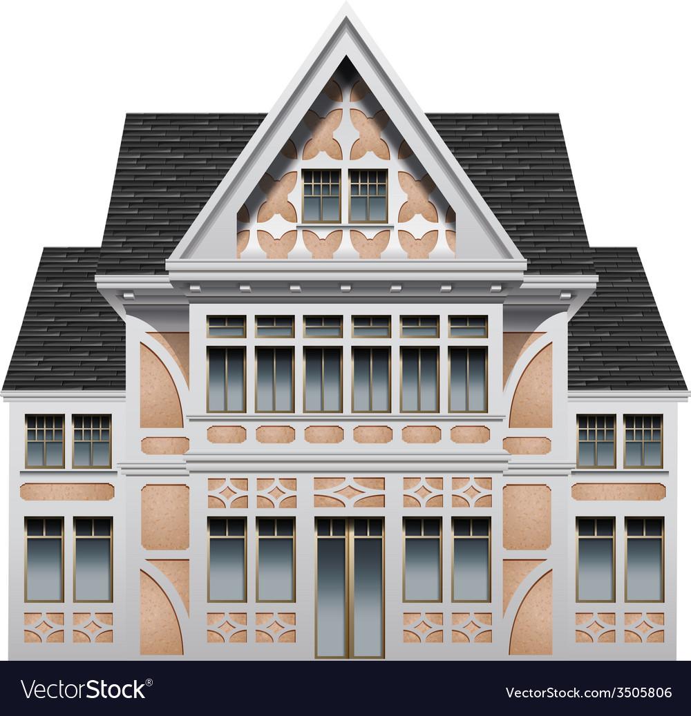 A big old building vector | Price: 1 Credit (USD $1)