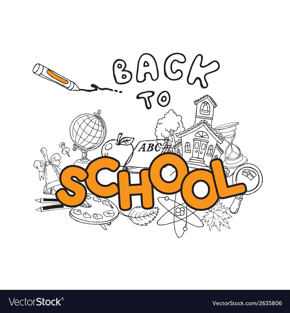 Back to school doodles - hand-drawn vector | Price: 1 Credit (USD $1)