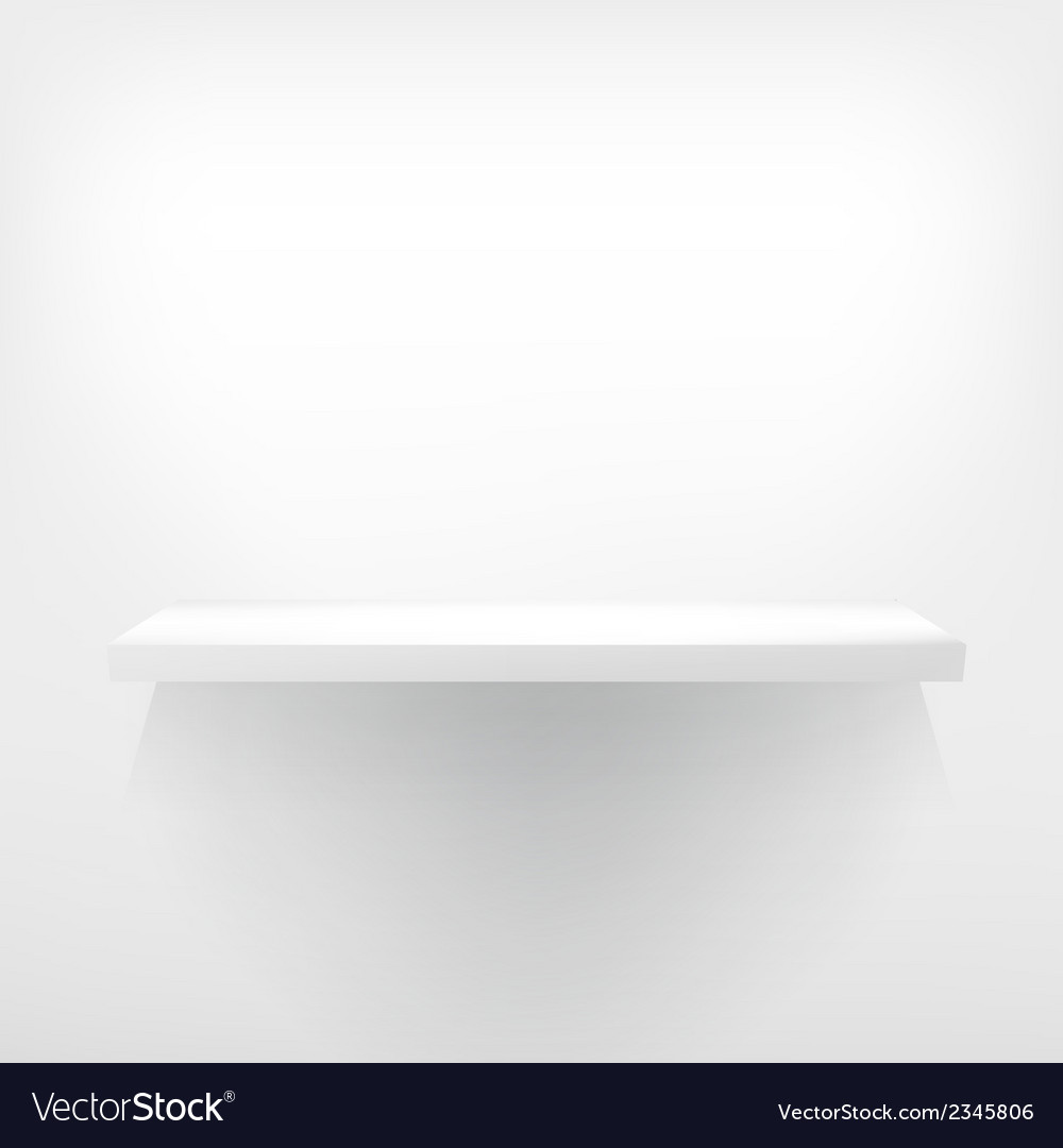 Detailed of white shelves vector | Price: 1 Credit (USD $1)