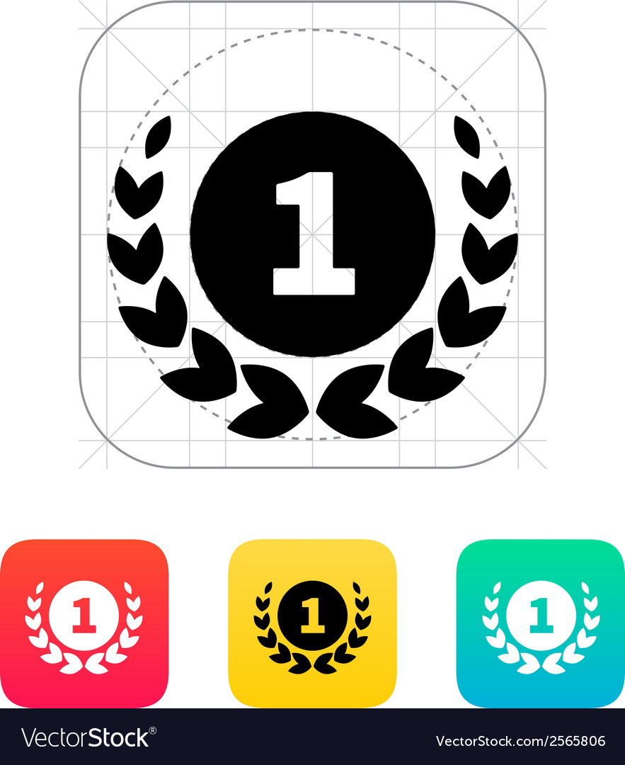 First place medal icon vector | Price: 1 Credit (USD $1)