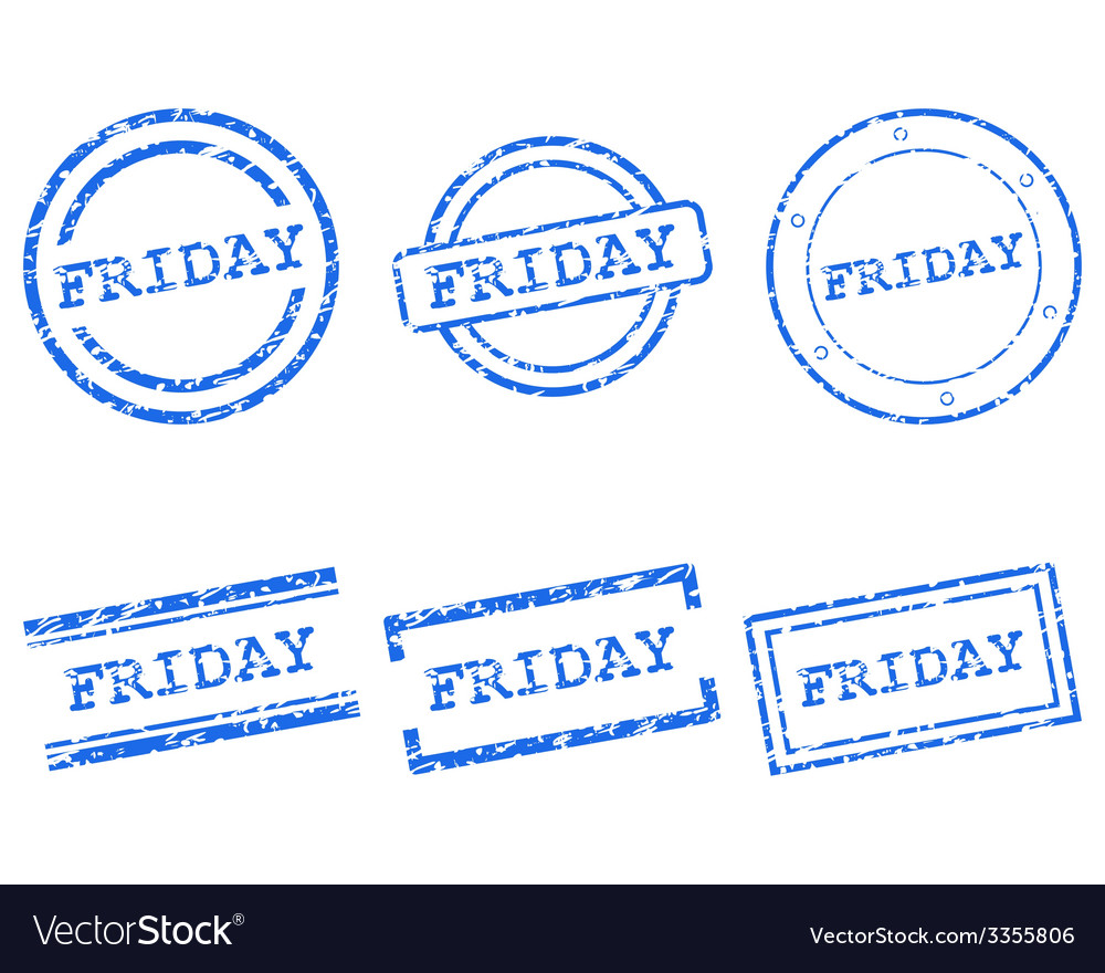 Friday stamps vector | Price: 1 Credit (USD $1)