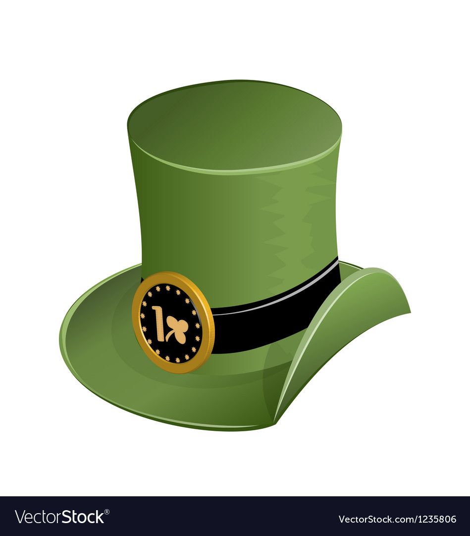 Green hat in saint patricks day vector | Price: 1 Credit (USD $1)