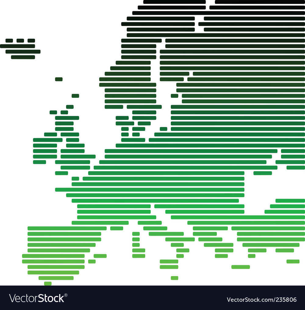 Map of europe vector | Price: 1 Credit (USD $1)