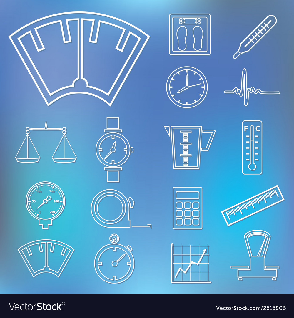 Measuring outline icons vector | Price: 1 Credit (USD $1)