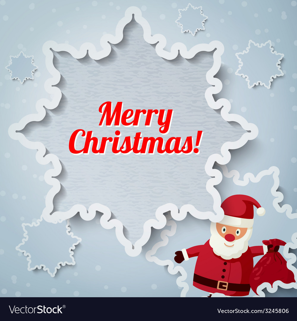 Merry christmas greeting card - santa claus vector | Price: 1 Credit (USD $1)