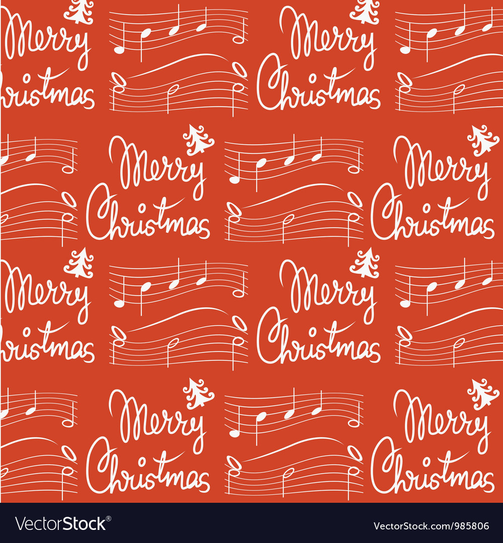 Merry christmas song pattern vector | Price: 1 Credit (USD $1)