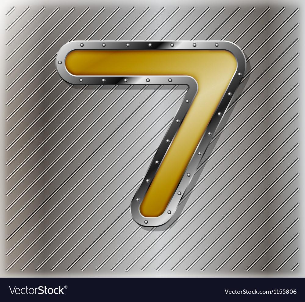 Metallic number seven vector | Price: 1 Credit (USD $1)