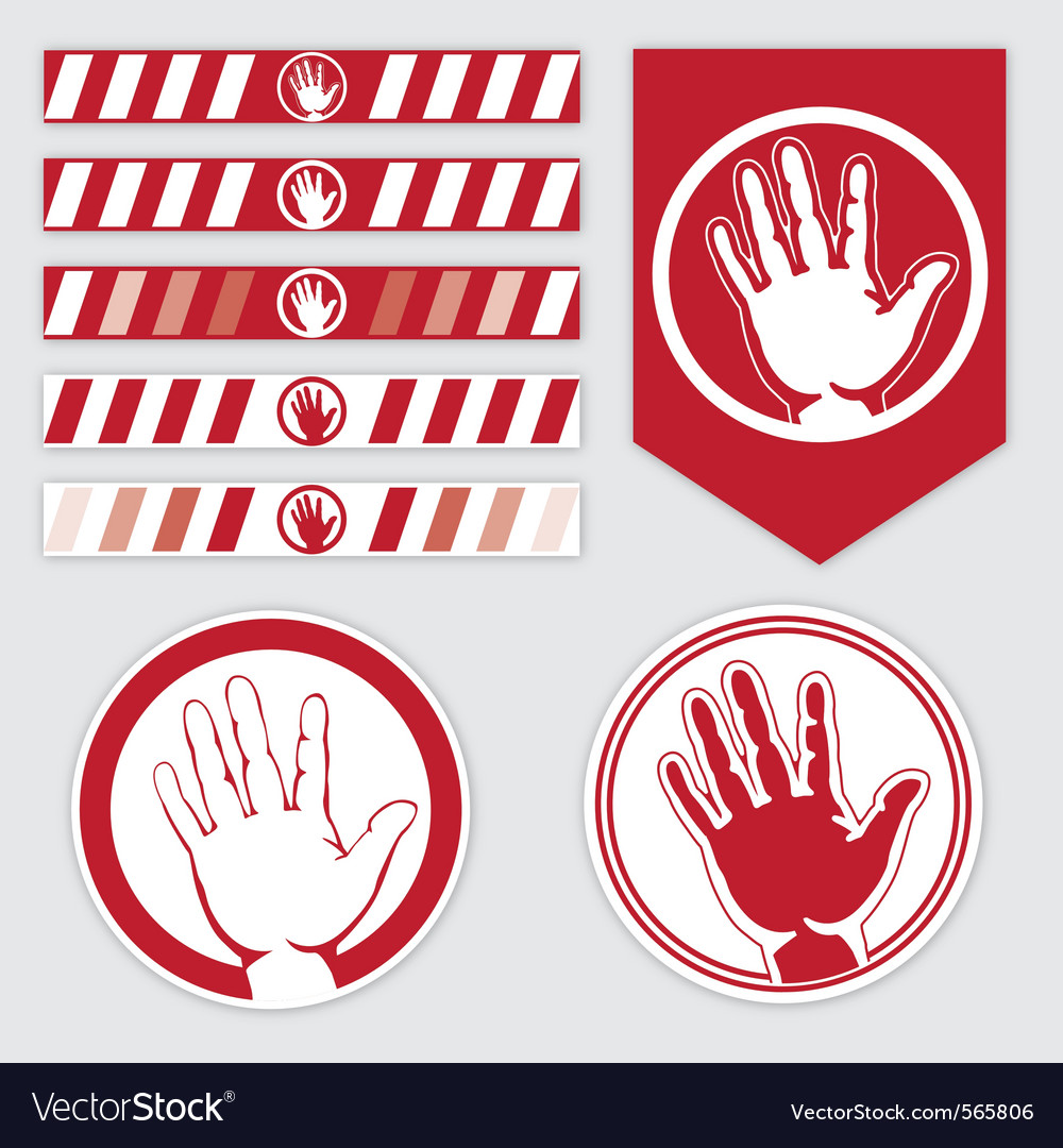 Palm caution vector | Price: 1 Credit (USD $1)
