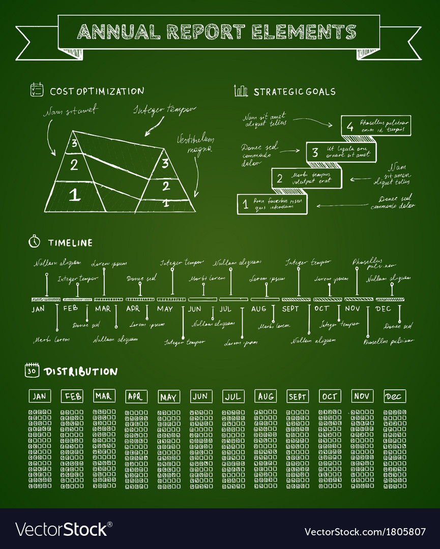 Chalkboard infographics elements vector | Price: 1 Credit (USD $1)