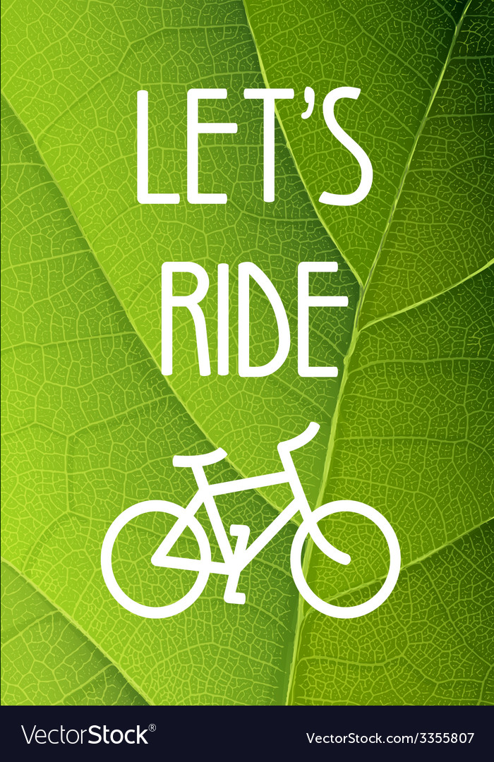 Ecology bicycle poster vector | Price: 1 Credit (USD $1)