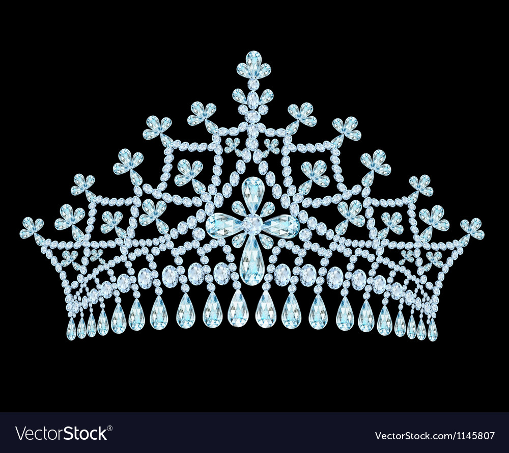 Feminine wedding tiara crown with tassels vector | Price: 1 Credit (USD $1)
