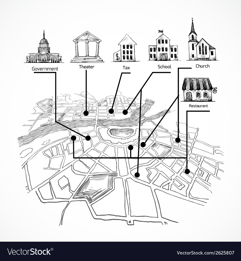Information city map vector | Price: 1 Credit (USD $1)