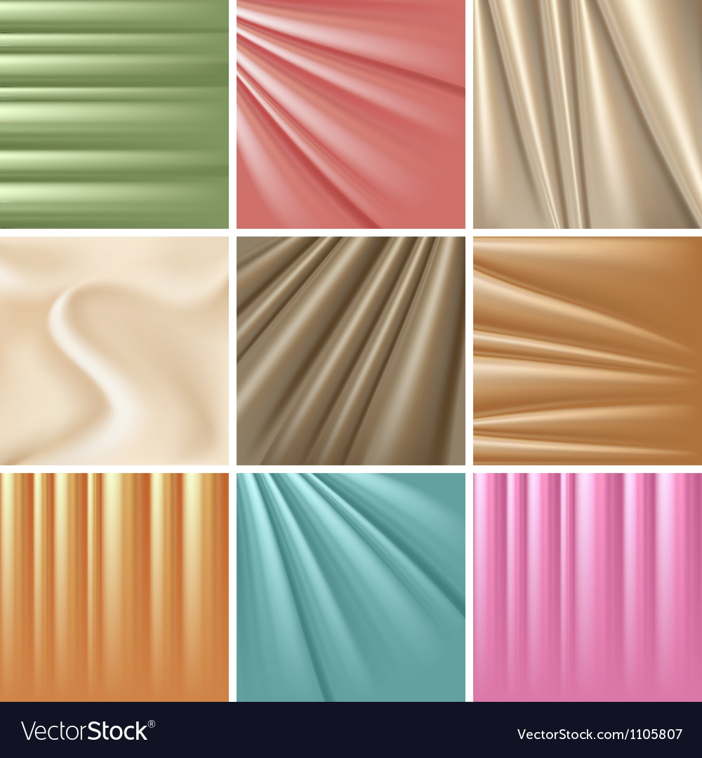 Set of 9 satin backgrounds vector | Price: 1 Credit (USD $1)