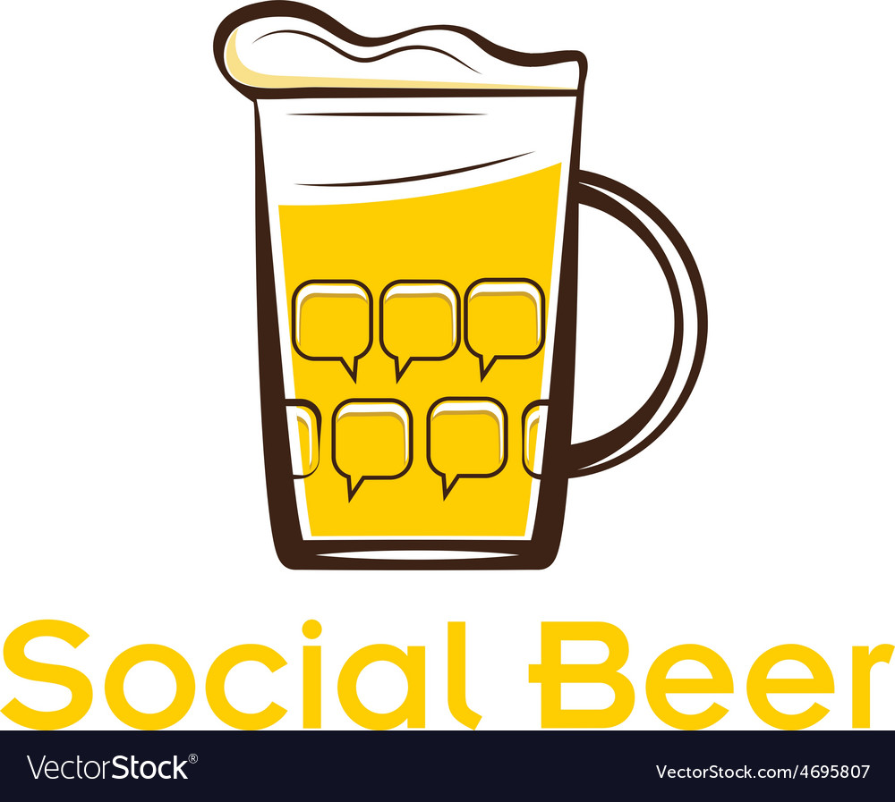 Social beer vector | Price: 1 Credit (USD $1)