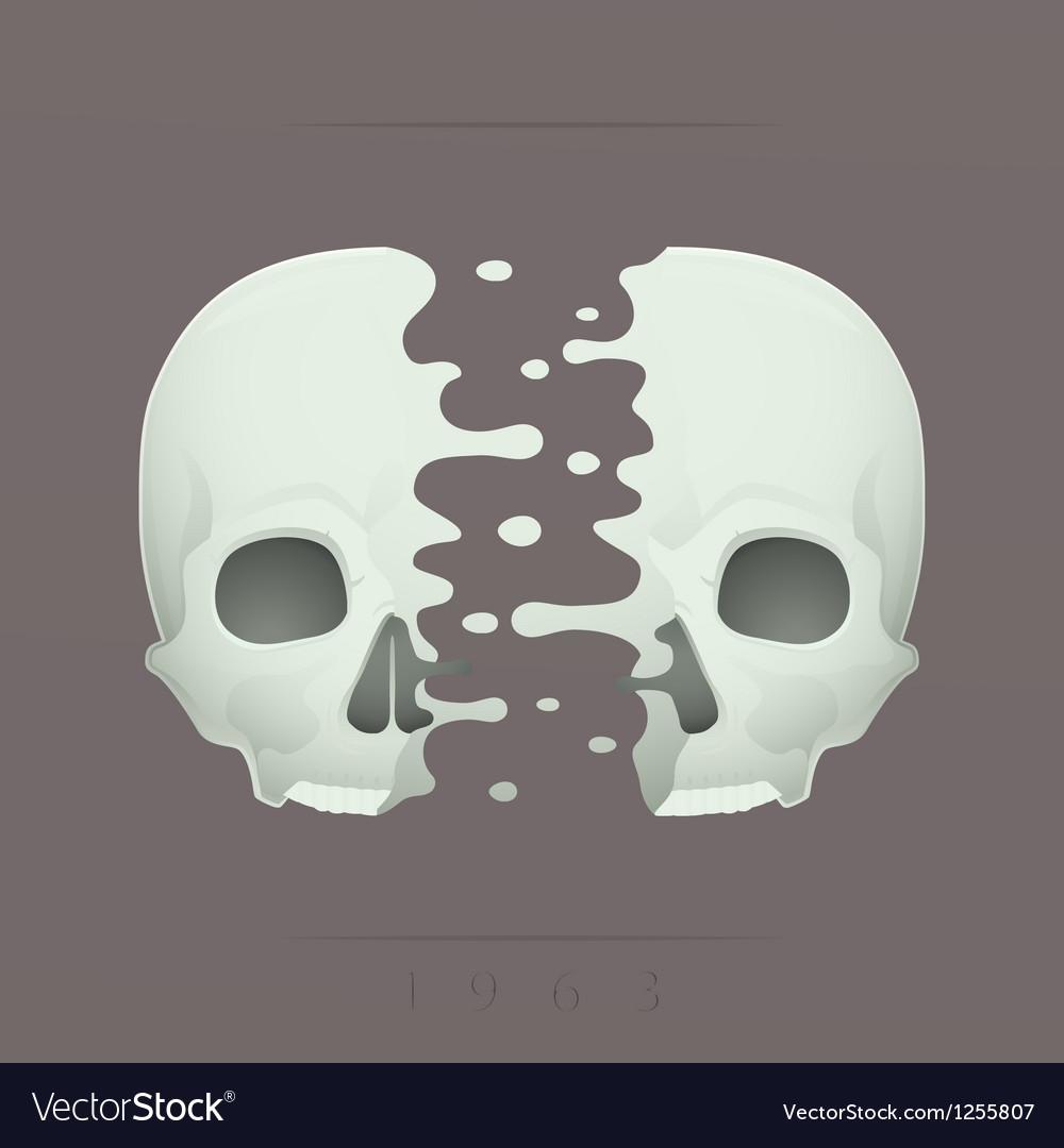 Split skull vector   Price: 1 Credit (USD $1)
