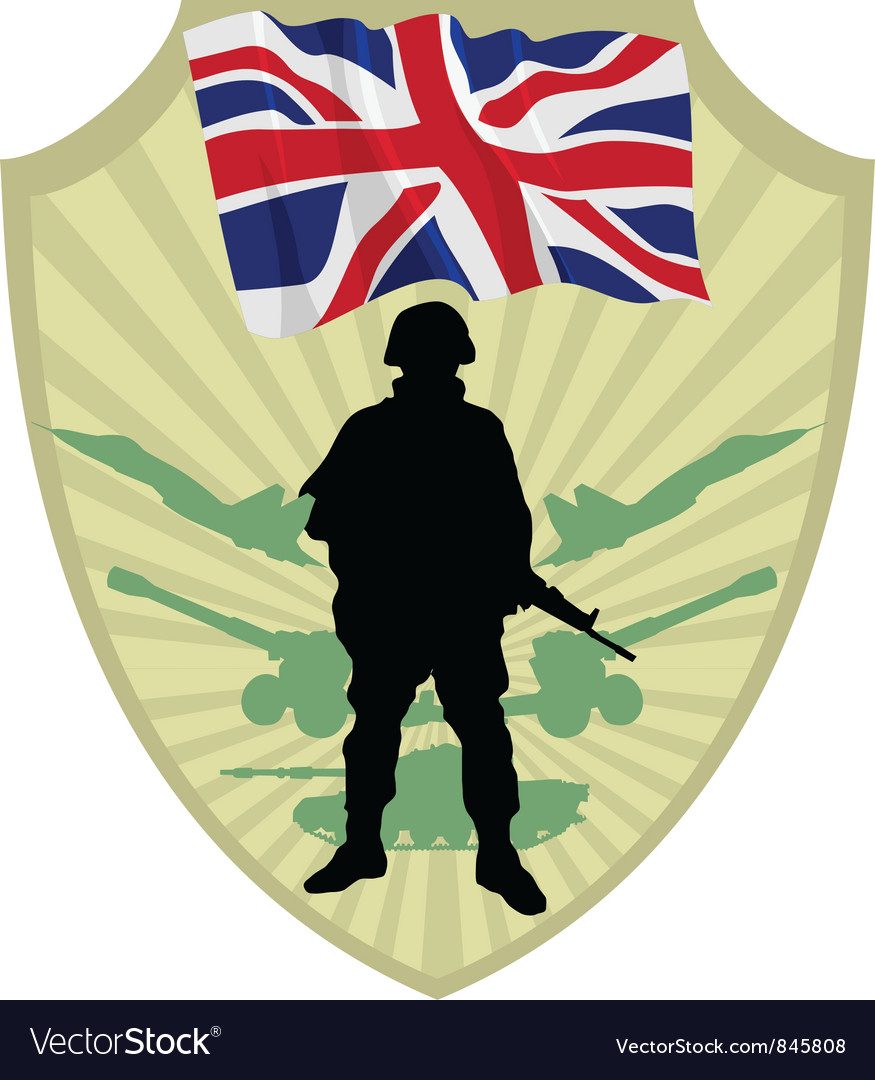 Army of united kingdom vector | Price: 1 Credit (USD $1)