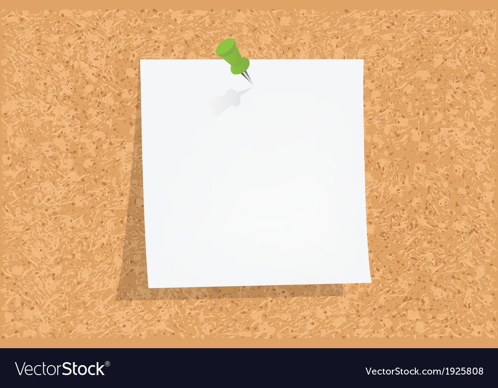 Cork board vector | Price: 1 Credit (USD $1)