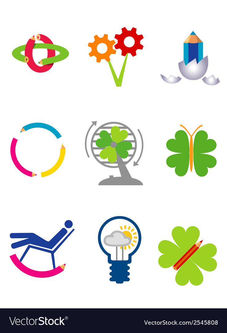 Creativity ecology icons vector | Price: 1 Credit (USD $1)