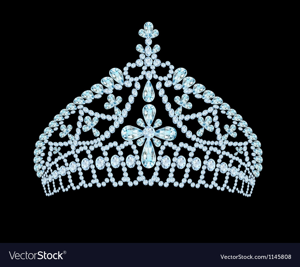 Feminine wedding tiara crown with light stone vector | Price: 1 Credit (USD $1)