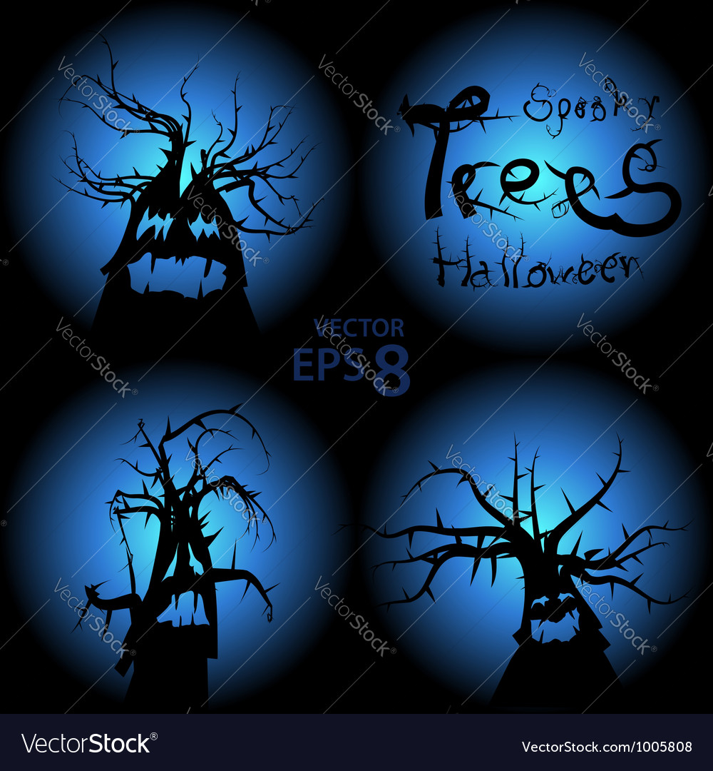 Halloween trees vector | Price:  Credit (USD $)