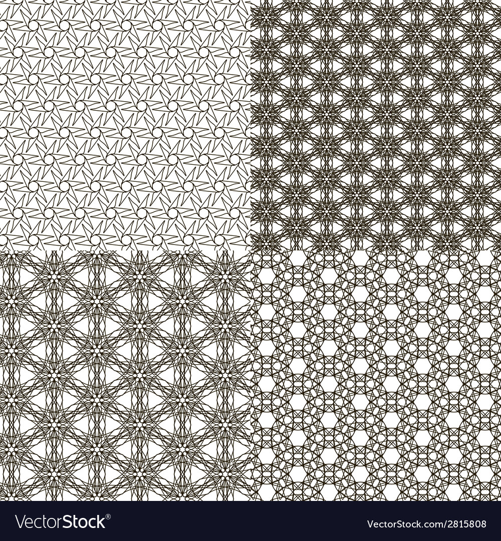 Set abstract vintage geometric wallpaper pattern vector   Price: 1 Credit (USD $1)