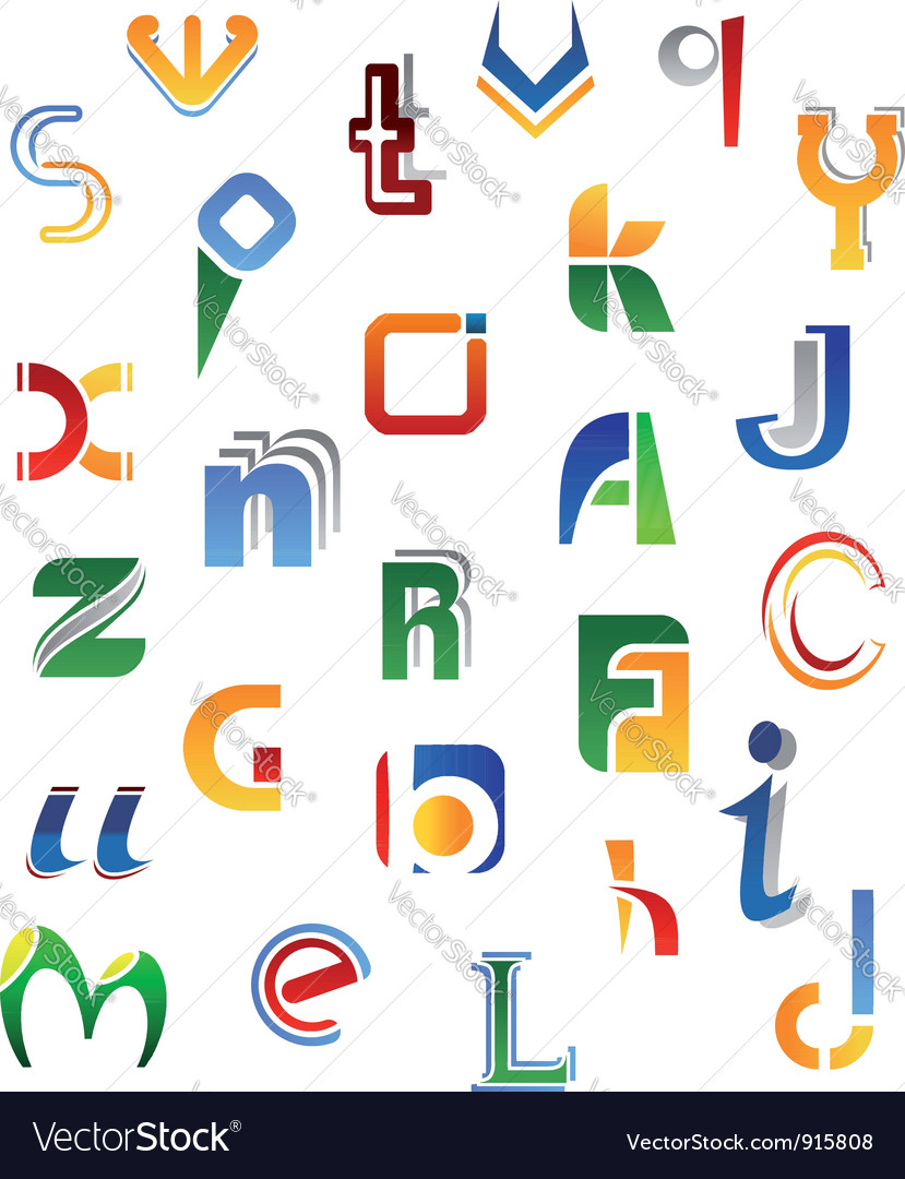 Set of full alphabet symbols from a to z vector | Price: 1 Credit (USD $1)