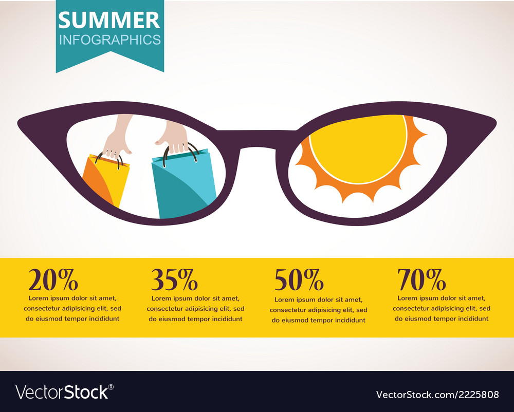 Summer sale infographics vector | Price: 1 Credit (USD $1)
