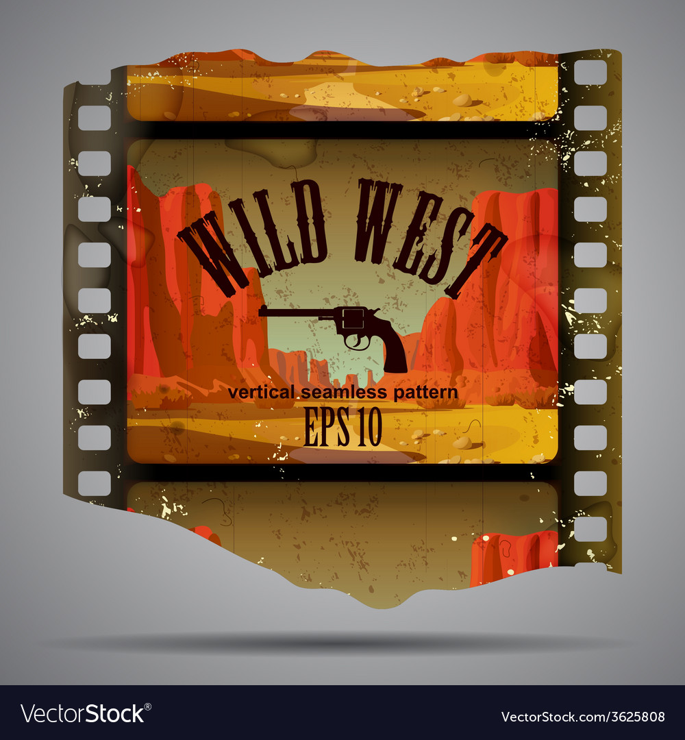 Western film piece vector | Price: 1 Credit (USD $1)