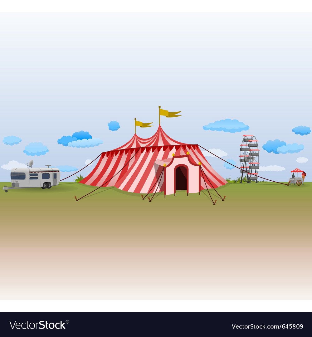 Amusement park with circus vector | Price: 1 Credit (USD $1)