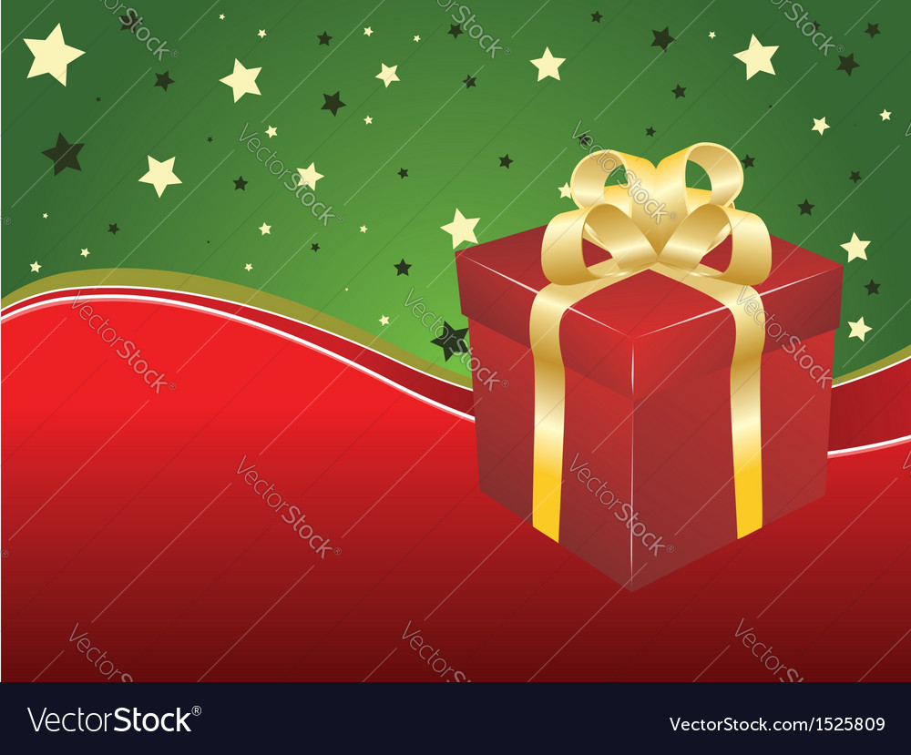 Background with gift box vector | Price: 1 Credit (USD $1)