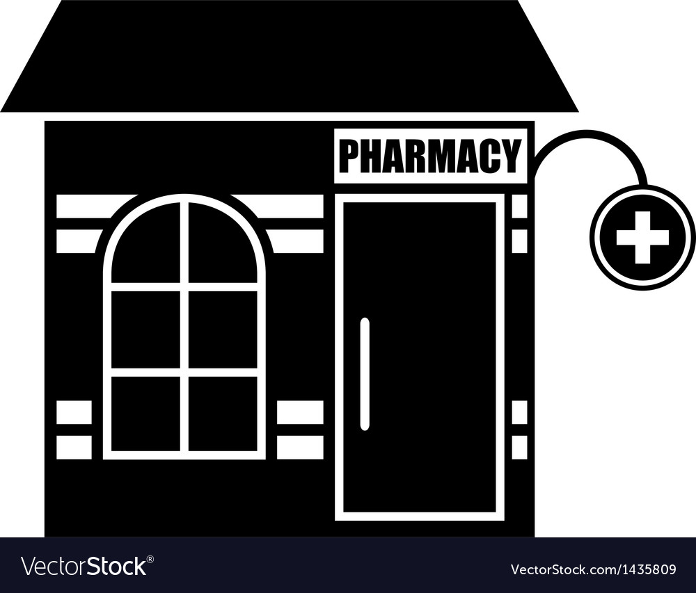 Black icon of pharmacy vector | Price: 1 Credit (USD $1)