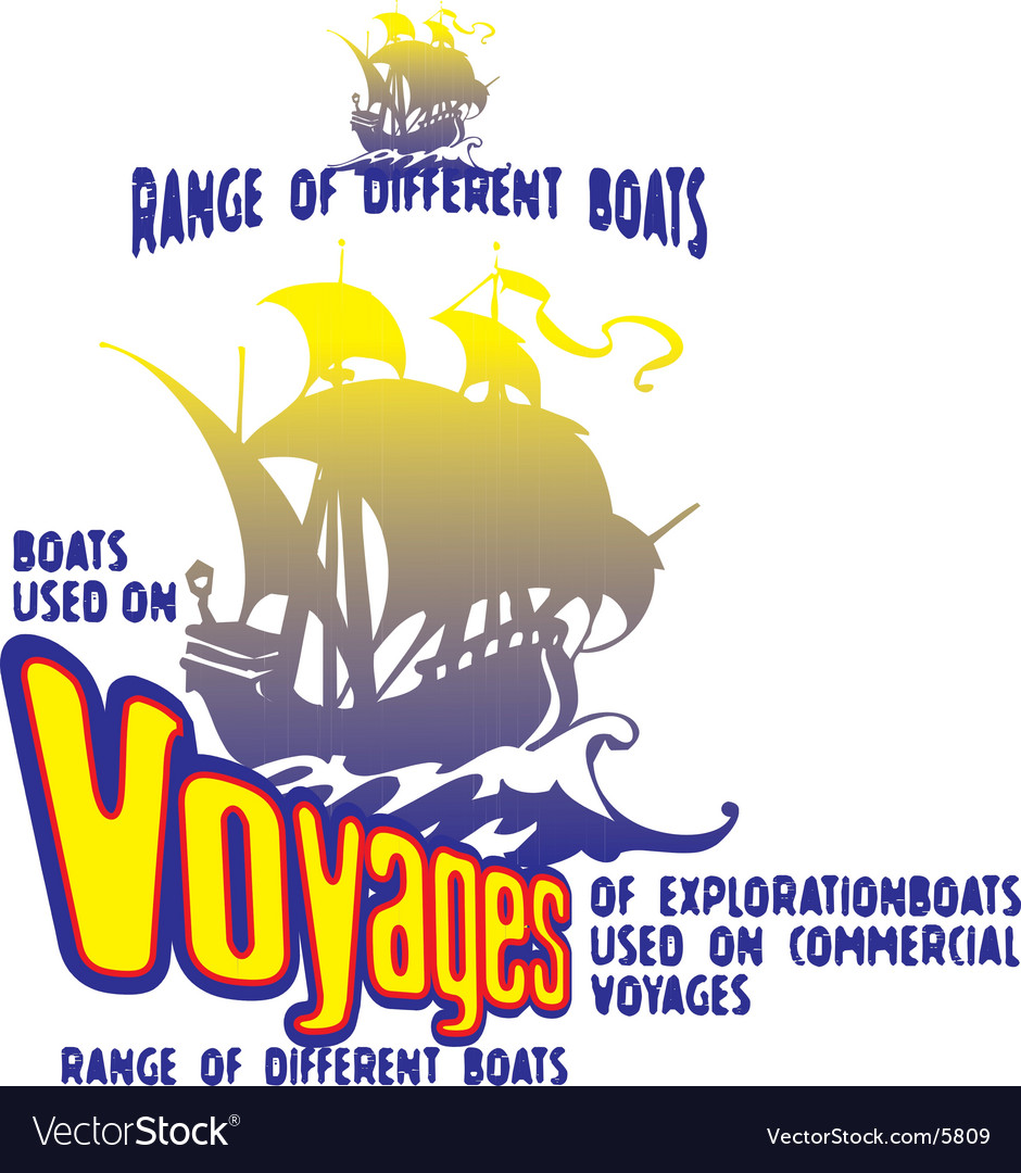 Boats voyage vector | Price: 1 Credit (USD $1)