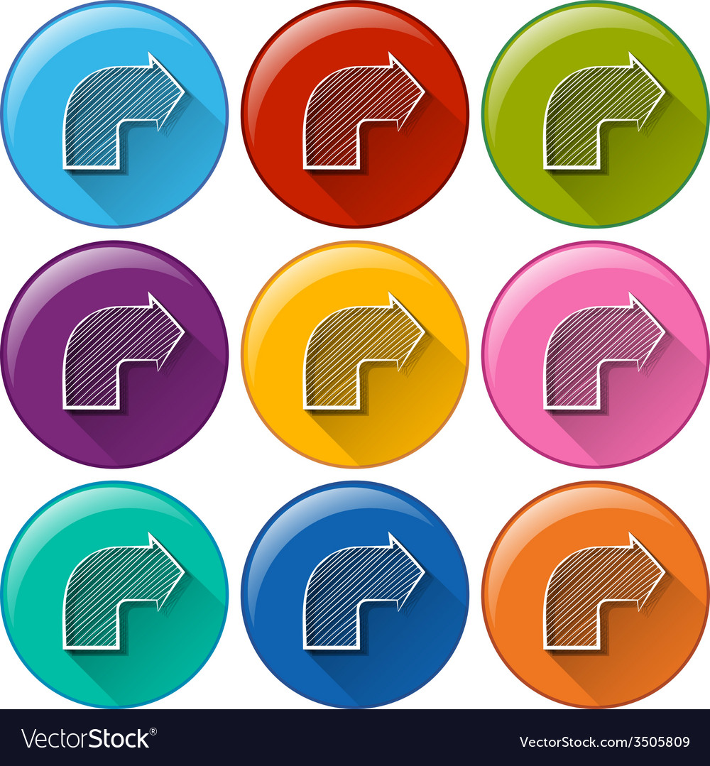 Circle buttons with arrows vector | Price: 1 Credit (USD $1)