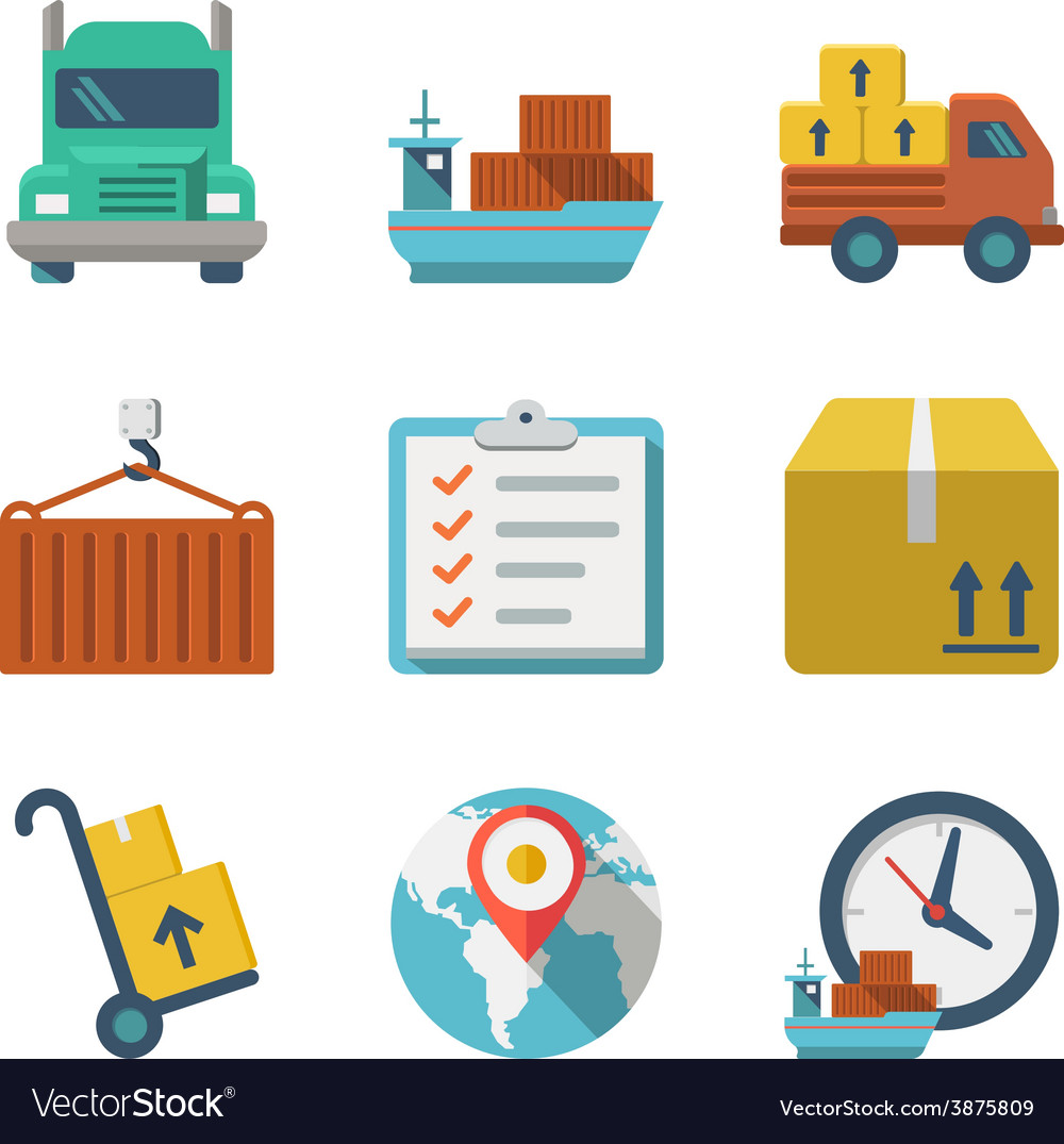 Delivery person freight logistic business industry vector | Price: 1 Credit (USD $1)