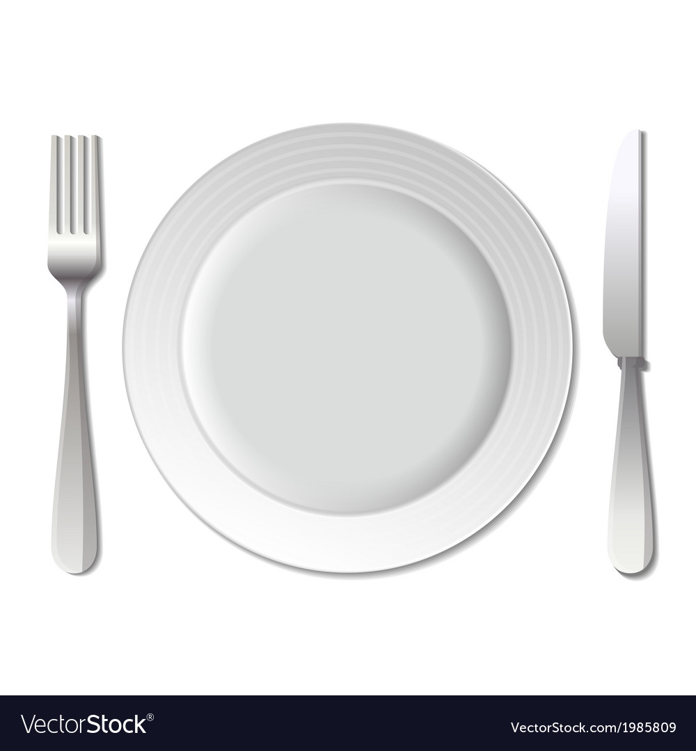 Dinner plate knife and fork vector | Price: 1 Credit (USD $1)